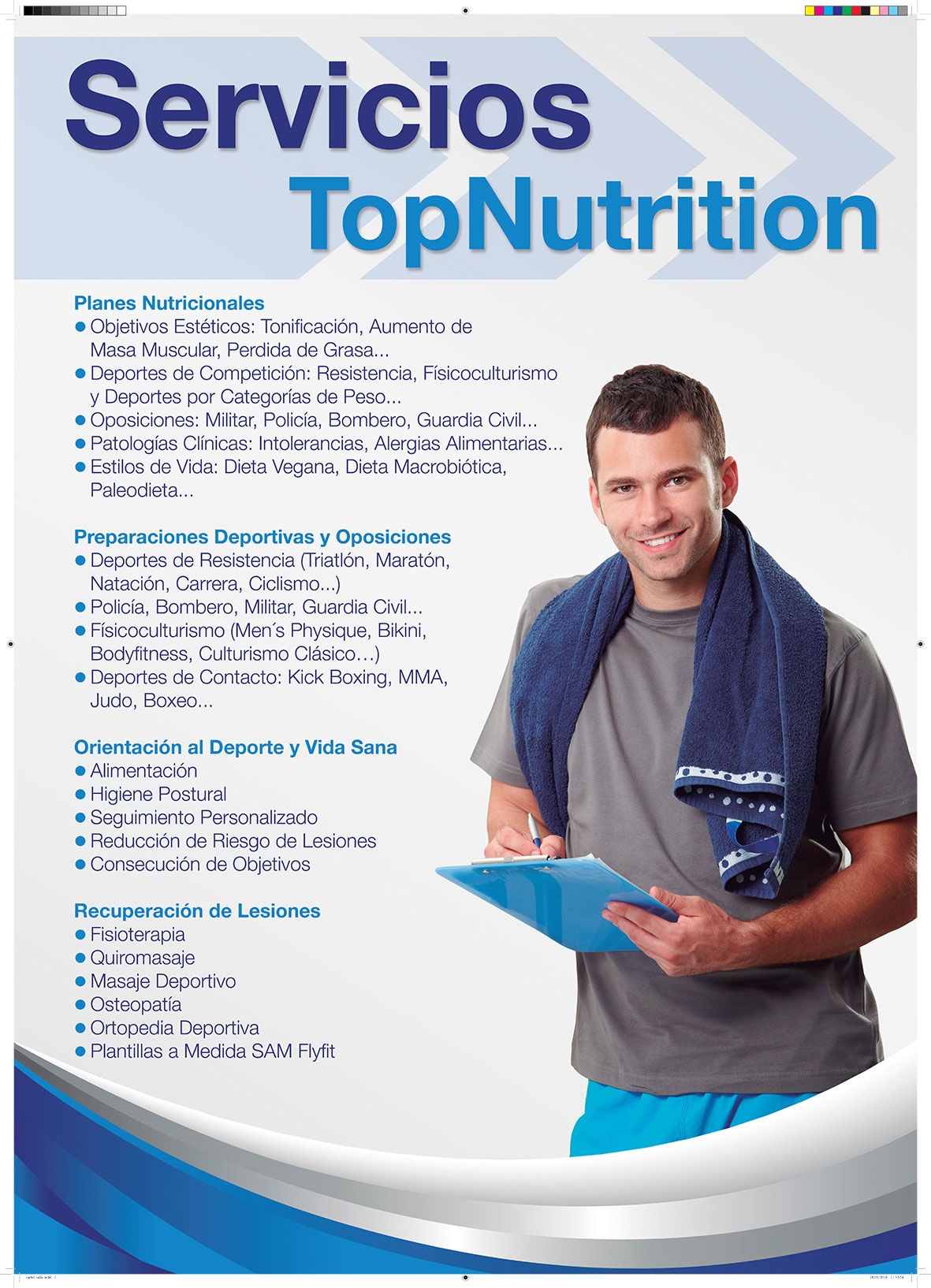 Cartel de calle para expositor top nutritition