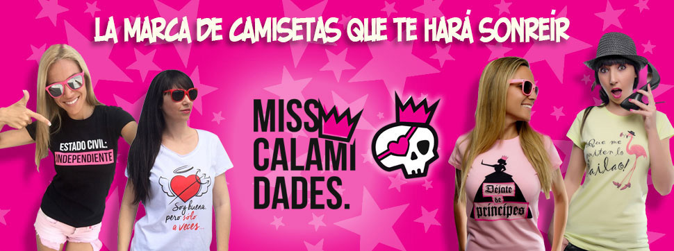Banner creado para la marca de camisetas MissCalamidades