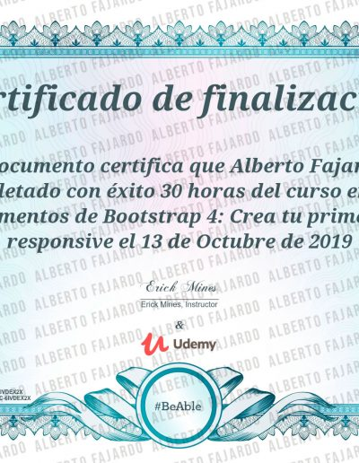Diploma UDEMY BOOTSTRAP 4