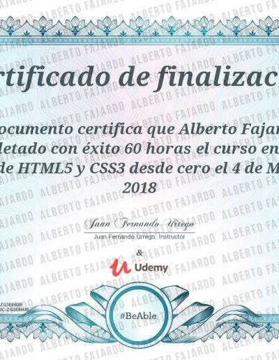 Diploma UDEMY HTML 5 CSS 3