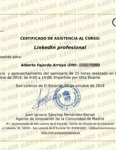Diploma Creacion Linkedin Profesional