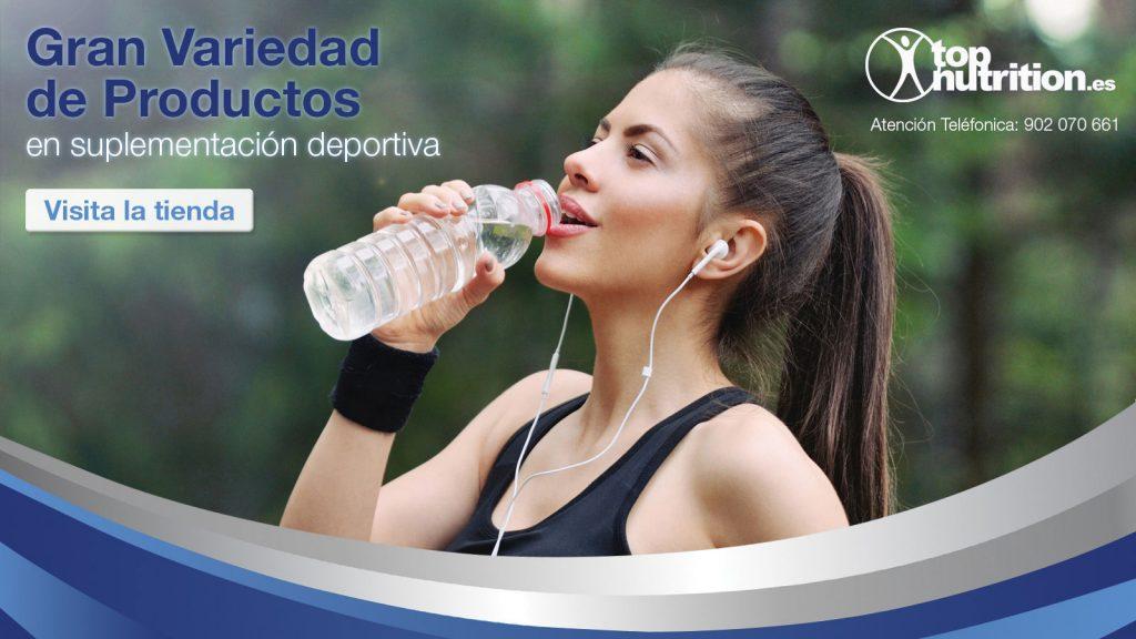 Landing Page creado para la web www.topnutrition.es