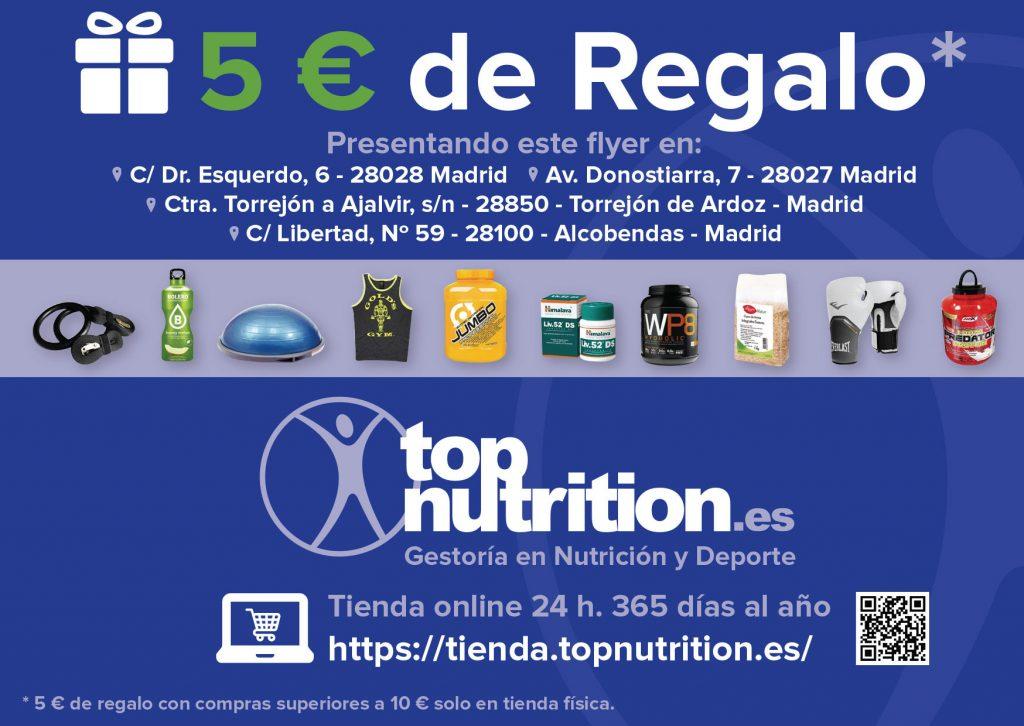 Flyer para topnutrition.es