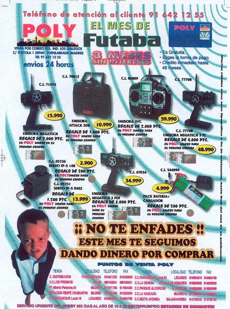 Pagina de revista de sector de RC realiza para Jugueterías Poly.