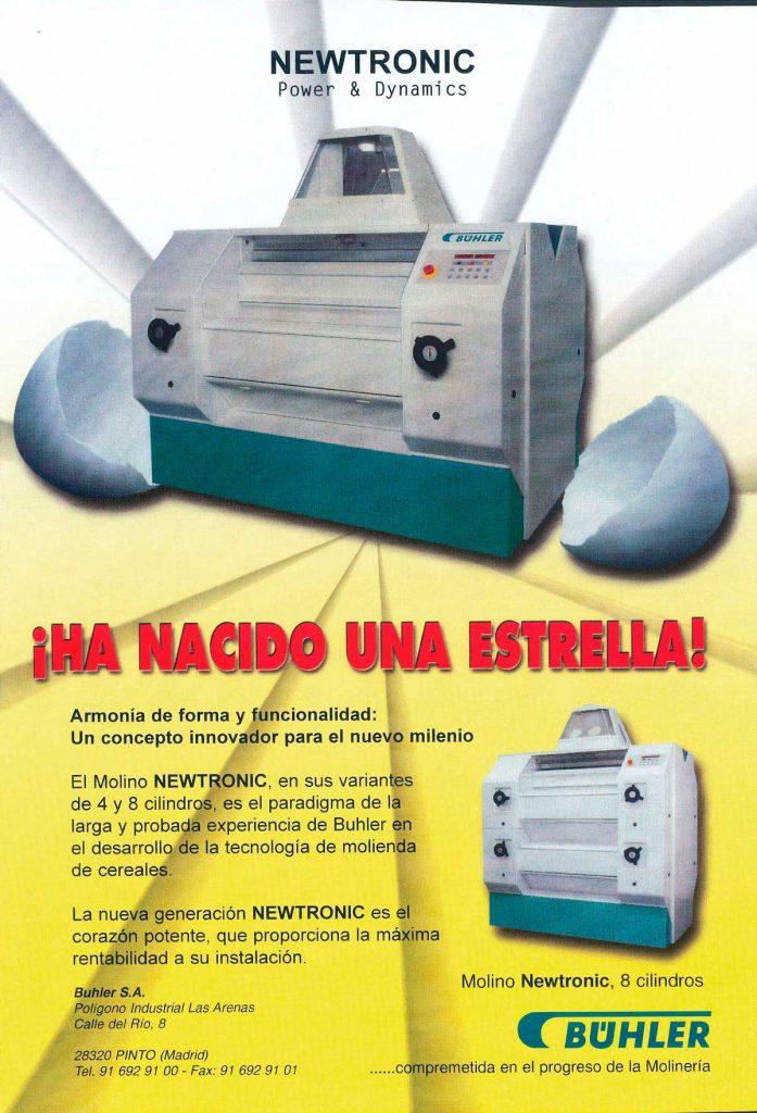Pagina de revista de sector de maquinaria.