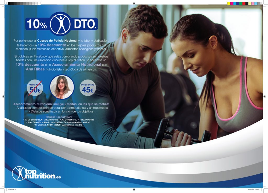 Cartel de calle Top Nutrition para CNP