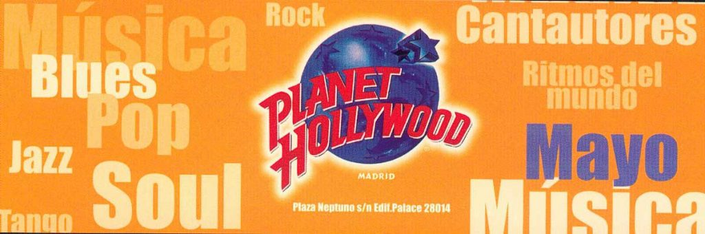 Trabajo realizado para Planet Hollywood