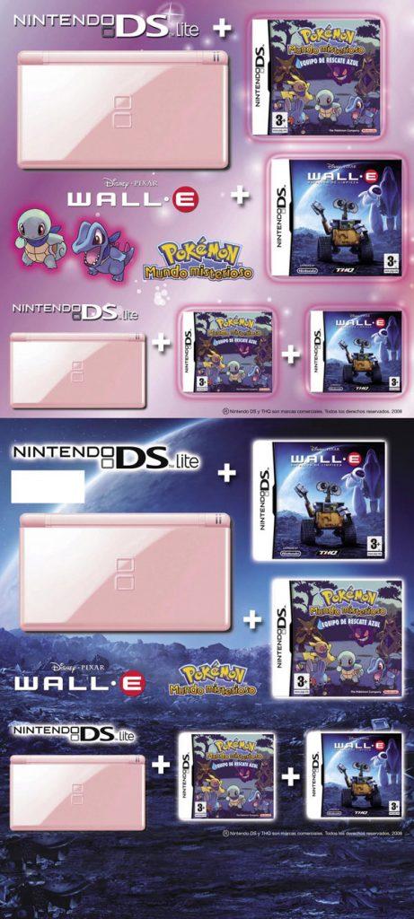 Parte frontal y canto de una caja bundler para Nintendo Nds.