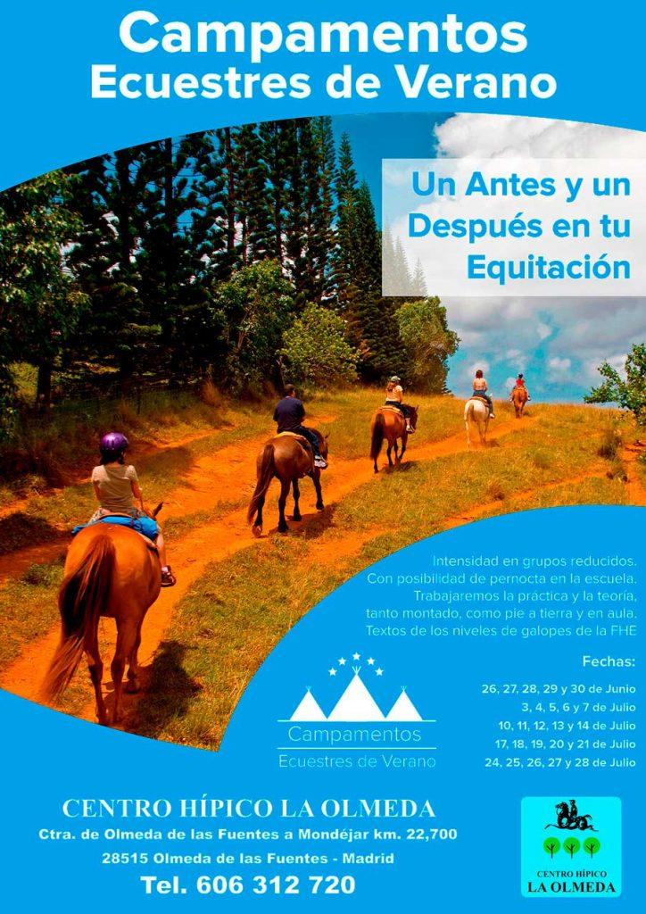 Cartel para Centro de Hipica La Olmeda