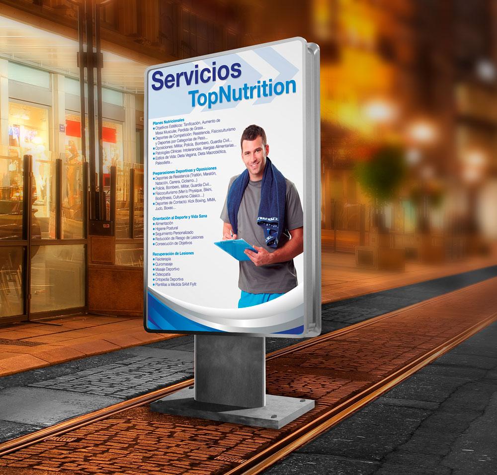 Mockup para Top Nutrition